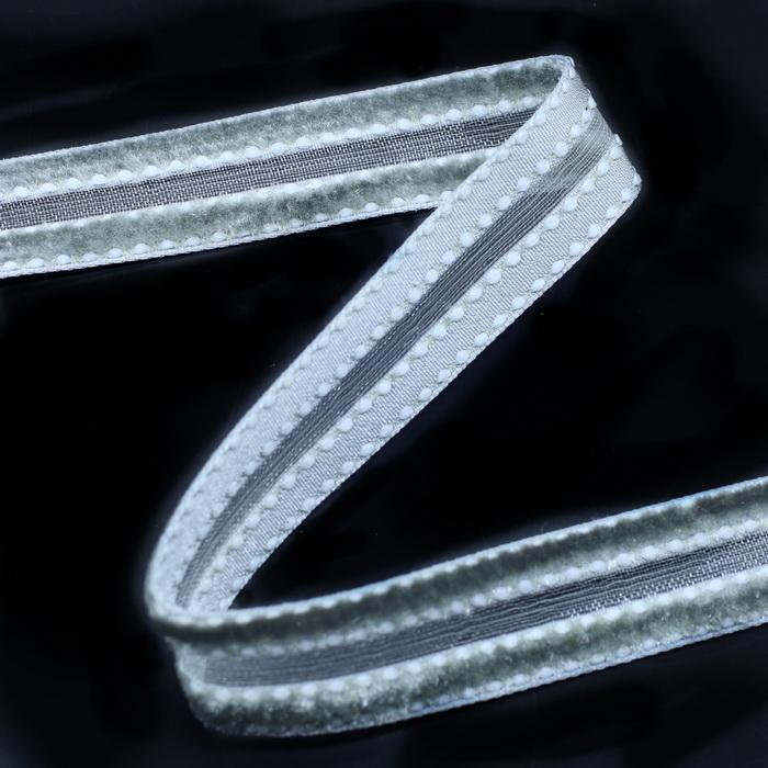 Лента бархатная 2817 пэ 1,5см (180 Серый) (50м) (на скл 1 уп)