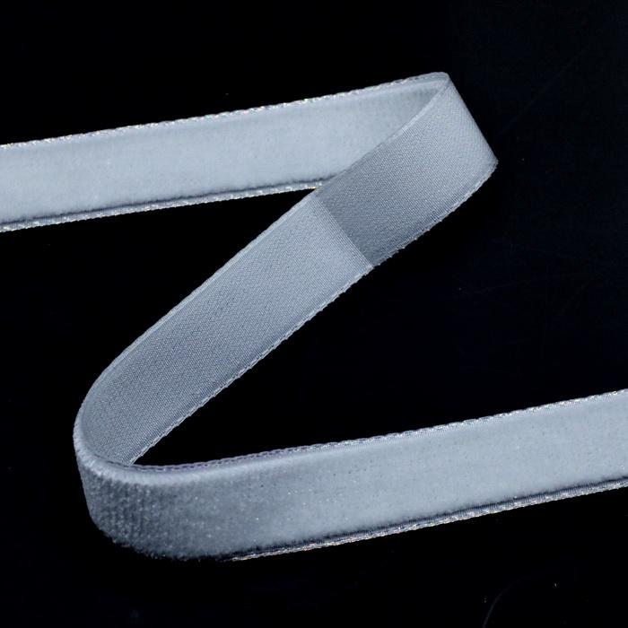 Лента бархатная 3355 S цв. Белый АВ (1.5см) (20м)