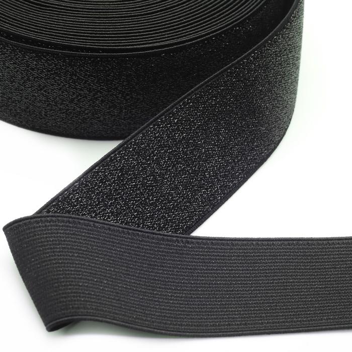Лента эластичная декоративная 1228 Чёрный 5см (40м)