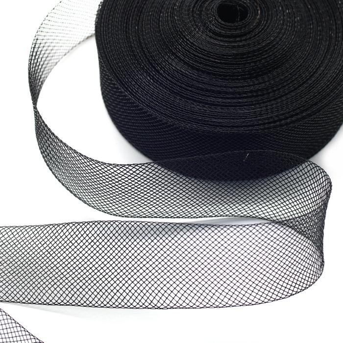 Регилин-сетка Чёрный (3см) (22,8м) (пластм)
