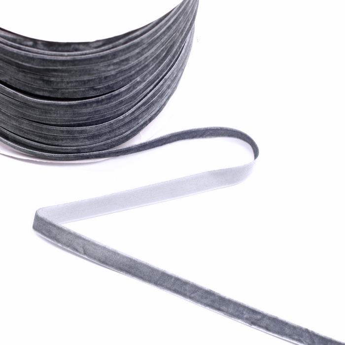 Лента бархатная 10мм Серый