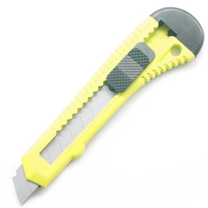 Нож канцелярский 14х4см Желтый