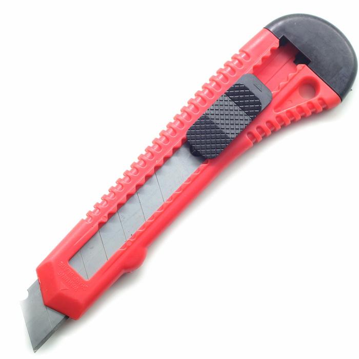 Нож канцелярский 14х4см Красный