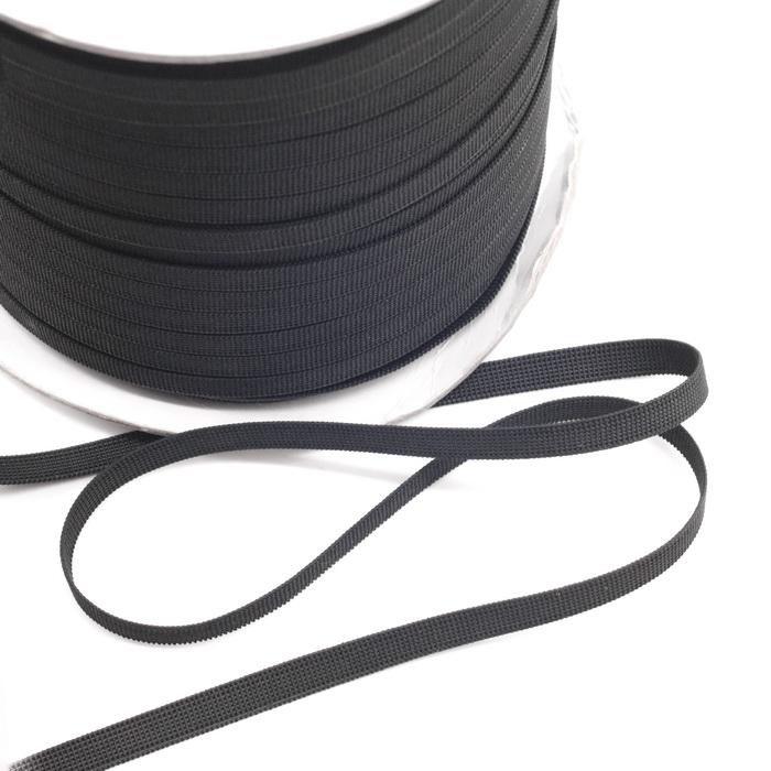 Тесьма эластичная 8мм Чёрный 200м
