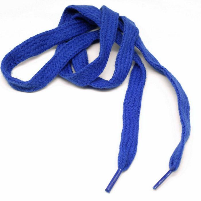 Шнурок для обуви плоский 60, 90см №К-583 Василёк 1см