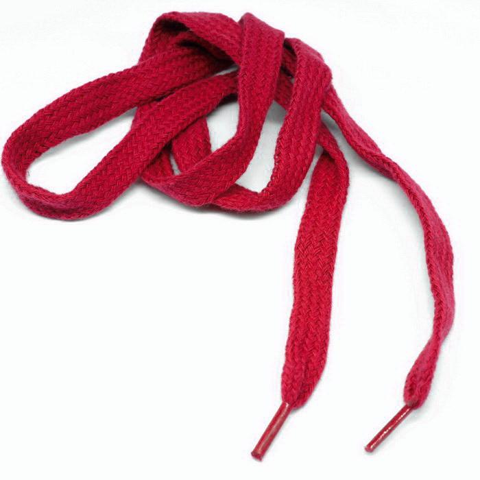 Шнурок для обуви плоский 90см №К-336 Красный 1см