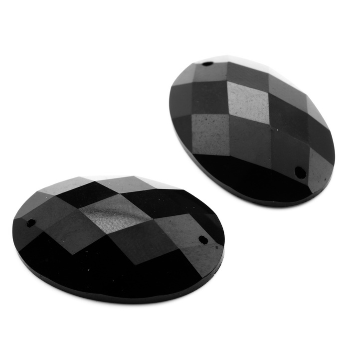 2030 А Украшения пластмассовые пришивные 20х30мм Чёрный опт