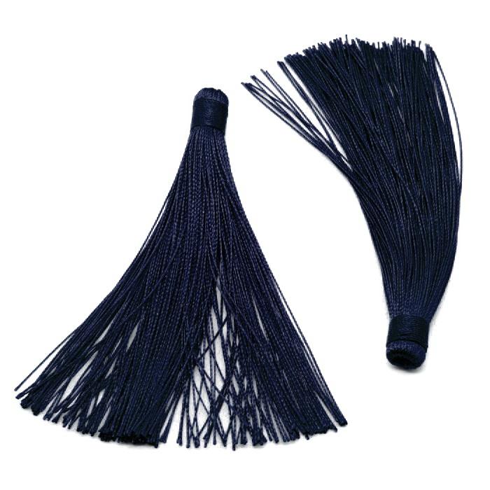 2806 Кисточка текстильная №4 Синий 1,5х12,5см