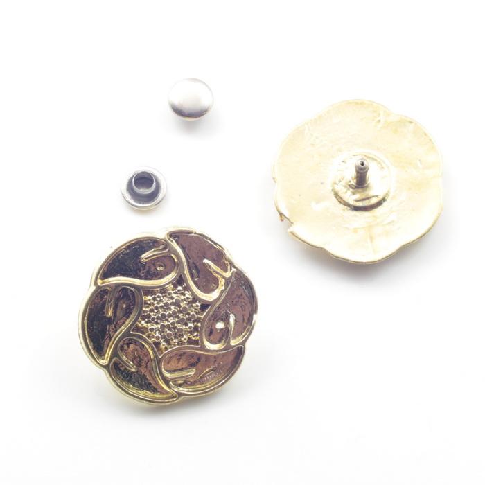 1757 Пряжка металлическая d2,5см Золото