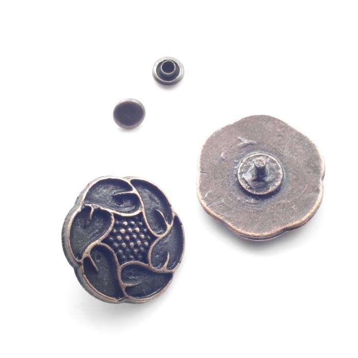 1757 Пряжка металлическая d2,5см Медь