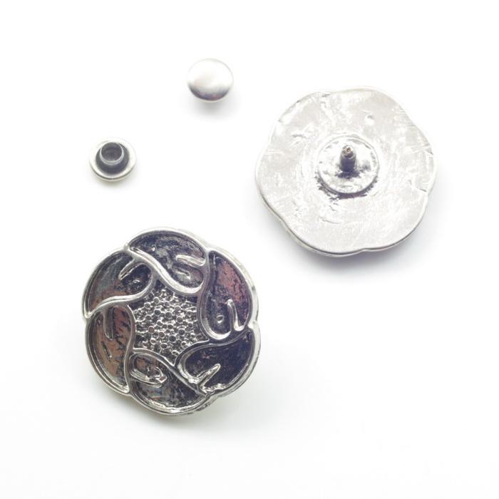 1757 Пряжка металлическая d2,5см Никель