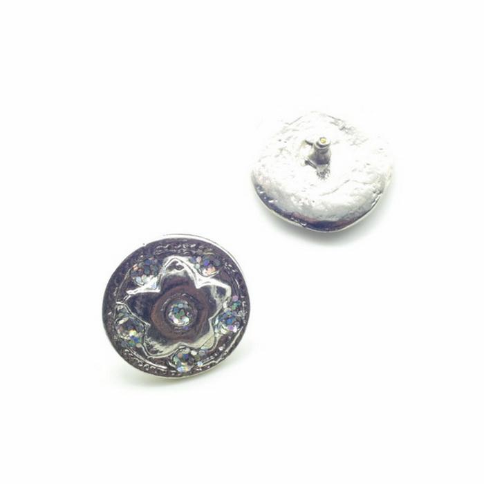 2049 Украшение металлическое d2см Никель