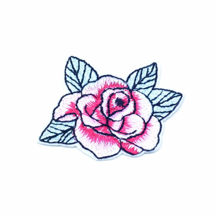 0543 А Аппликация текстильная Роза 4,8х3,5см (клеевая) 0,4