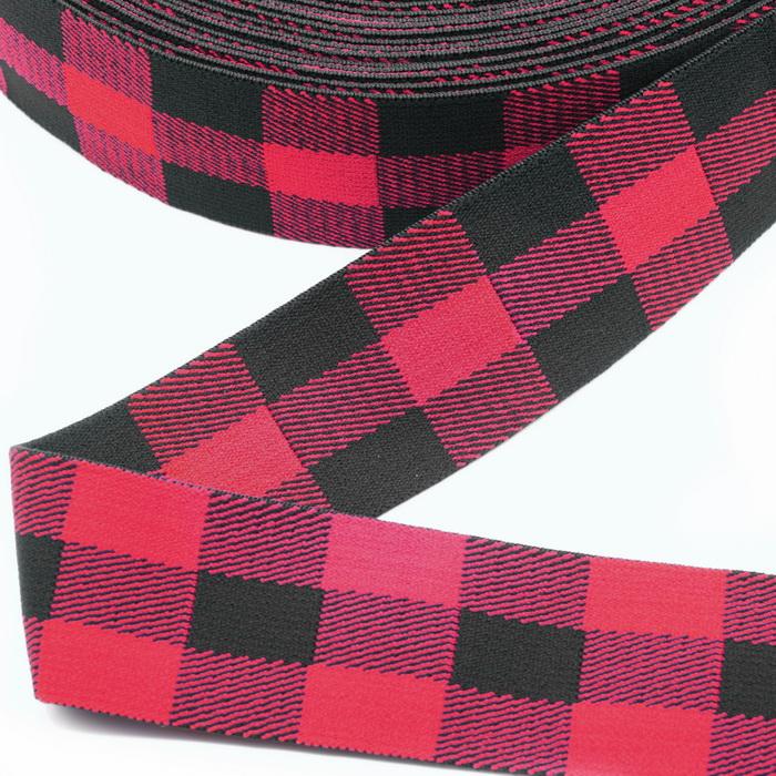 1840 Лента эластичная дек. 4см №1 Чёрно-красный (1) 2400073380012