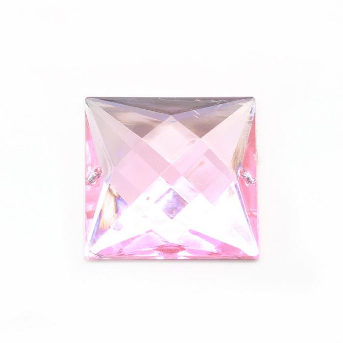 Стразы пришивные 30х30мм Розовый