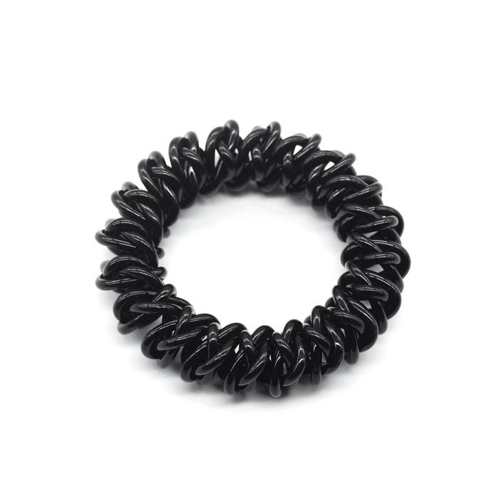 035В Резинка для волос спираль Чёрный