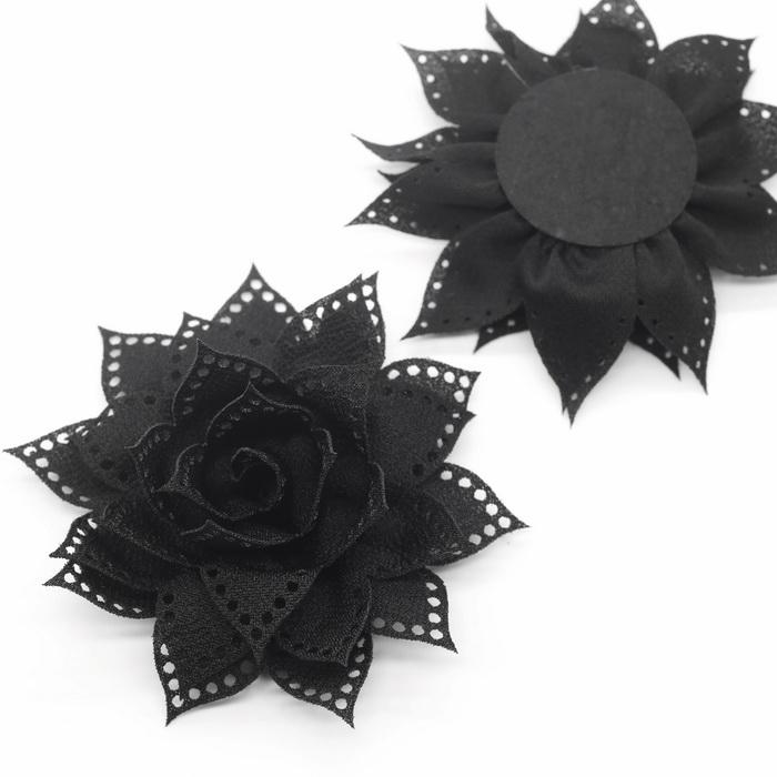 0910 Украшение для одежды №1 Черный d11см